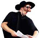 Matthew Brook in costume