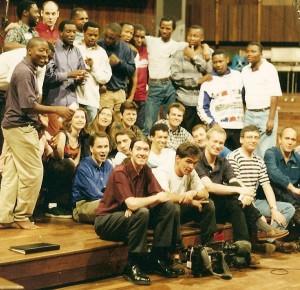 SABC studios, recording Simunye April 1997